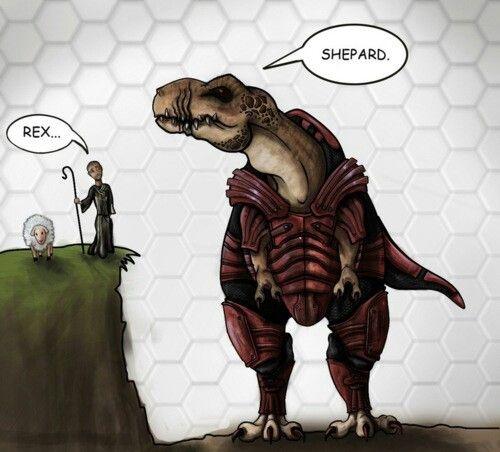 Shepard Wrex encounter   Mass Effect   Mass effect, Mass