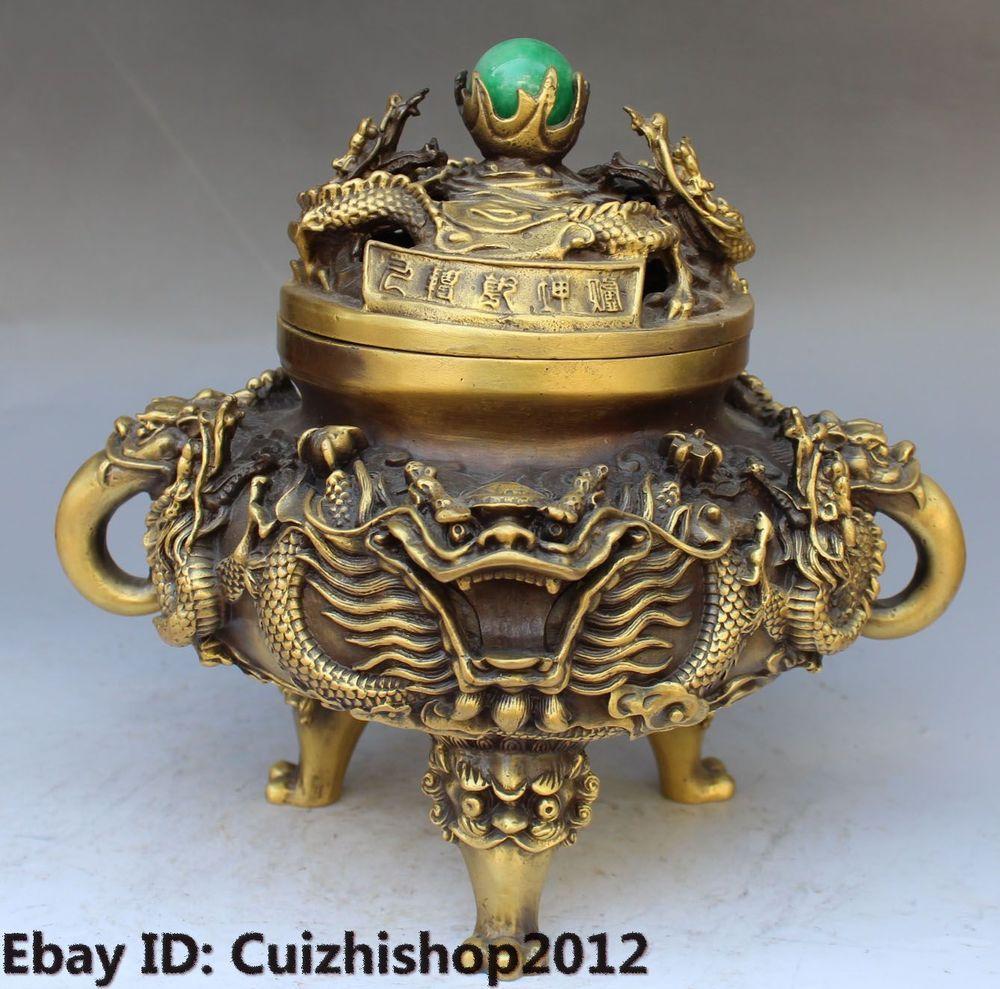 Asian metal incense holder