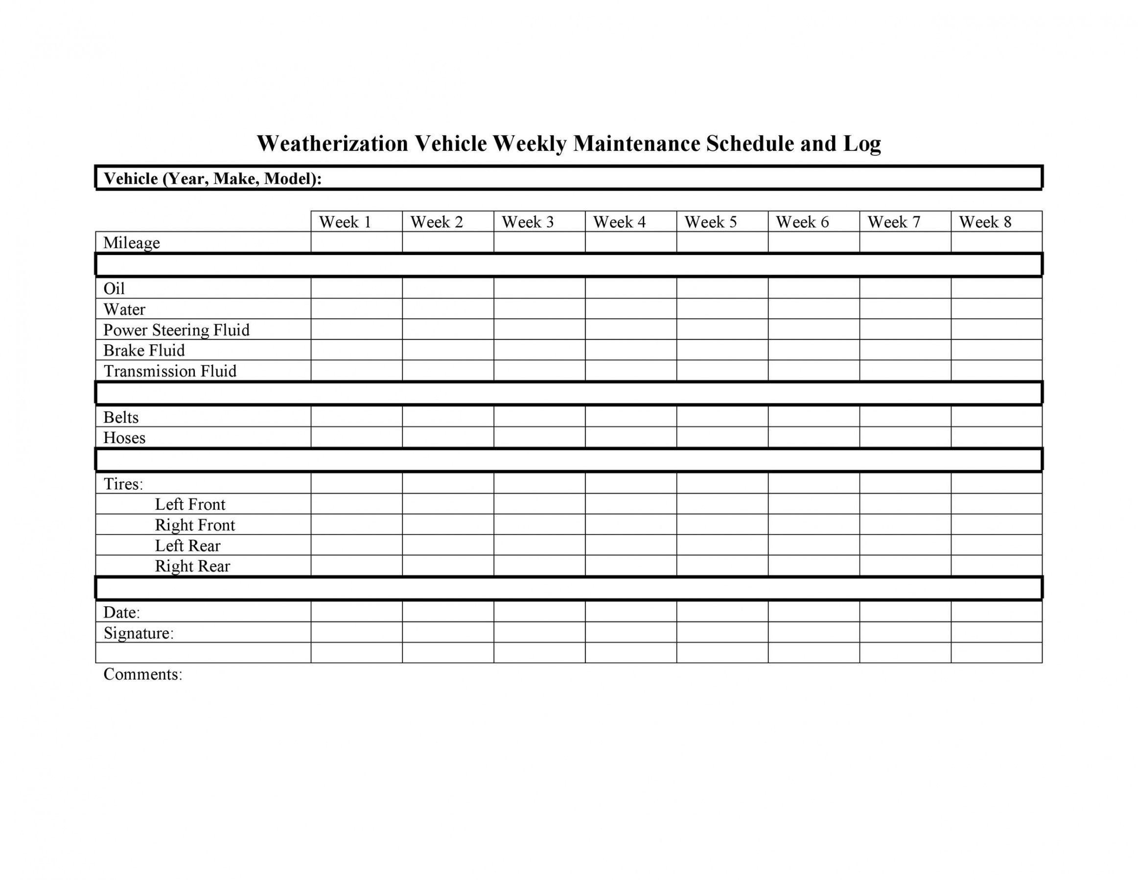 Editable 43 Printable Vehicle Maintenance Log Templates Templatelab Heavy Equipment Maintena Vehicle Maintenance Log Best Way To Invest How To Plan Heavy equipment maintenance log template