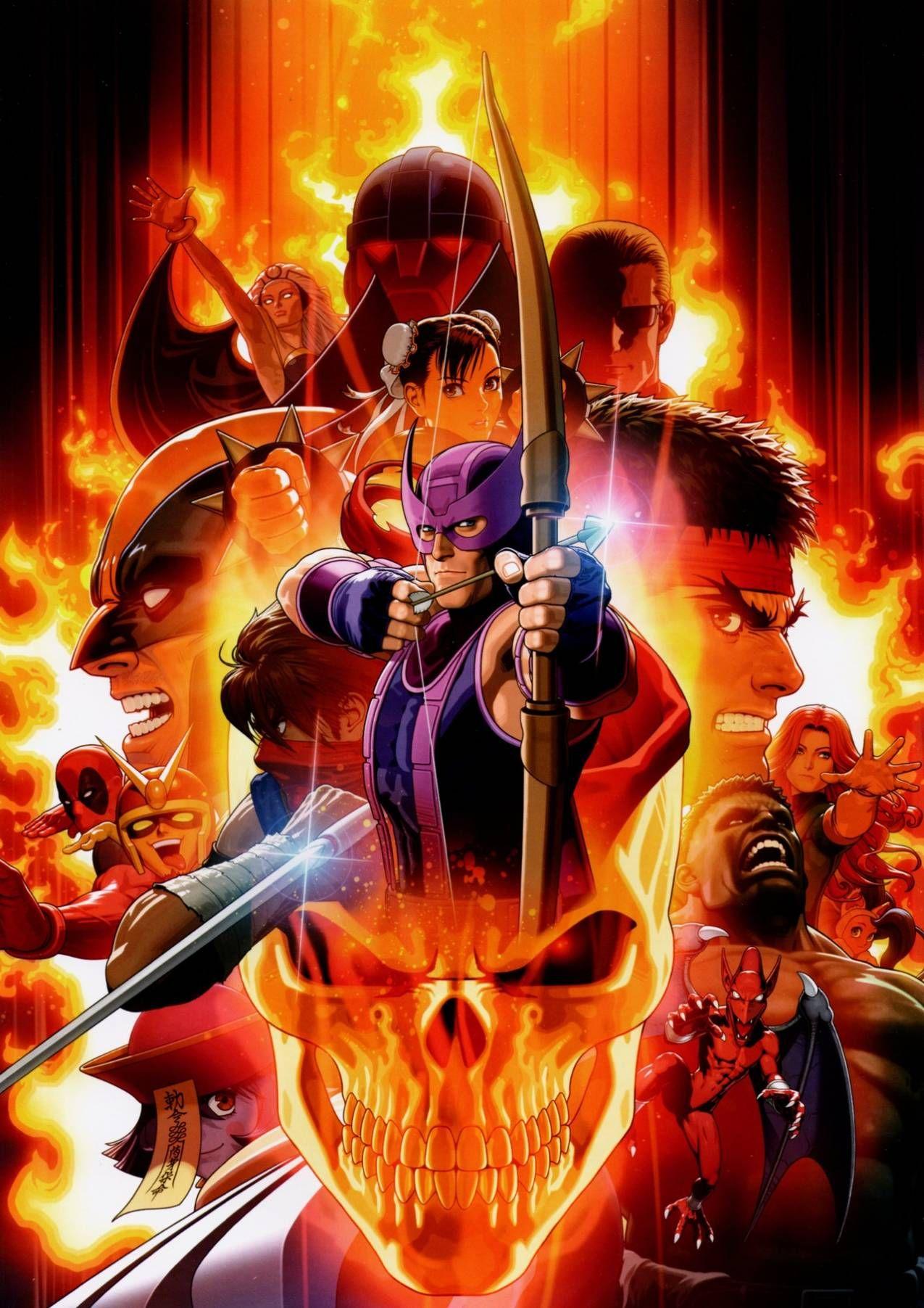 Ultimate Marvel Vs Capcom 3 Art By Shinkiro I Want Your Skulls