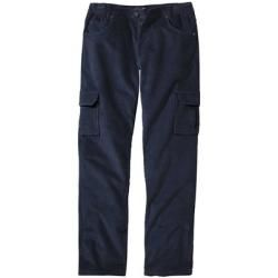 Reduced corduroy pants for men