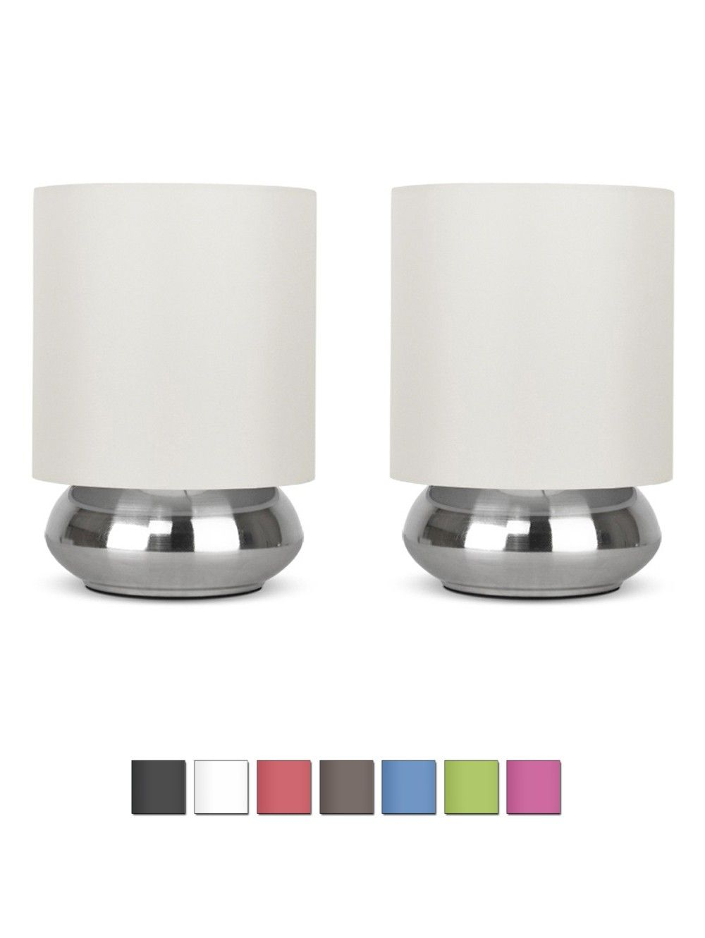 Pair of brushed chrome touch table lamps my night lights to buy pair of brushed chrome touch table lamps aloadofball Gallery