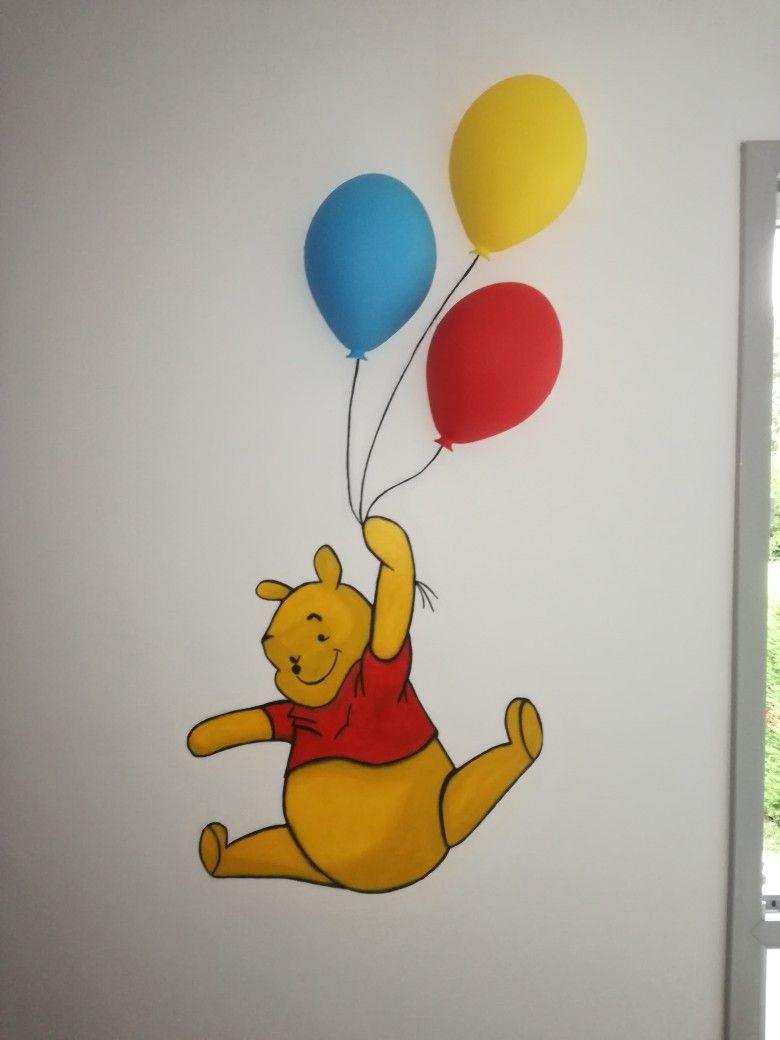 Décoration murale Winnie l\'ourson avec ballons Ikea | Déco chambre ...