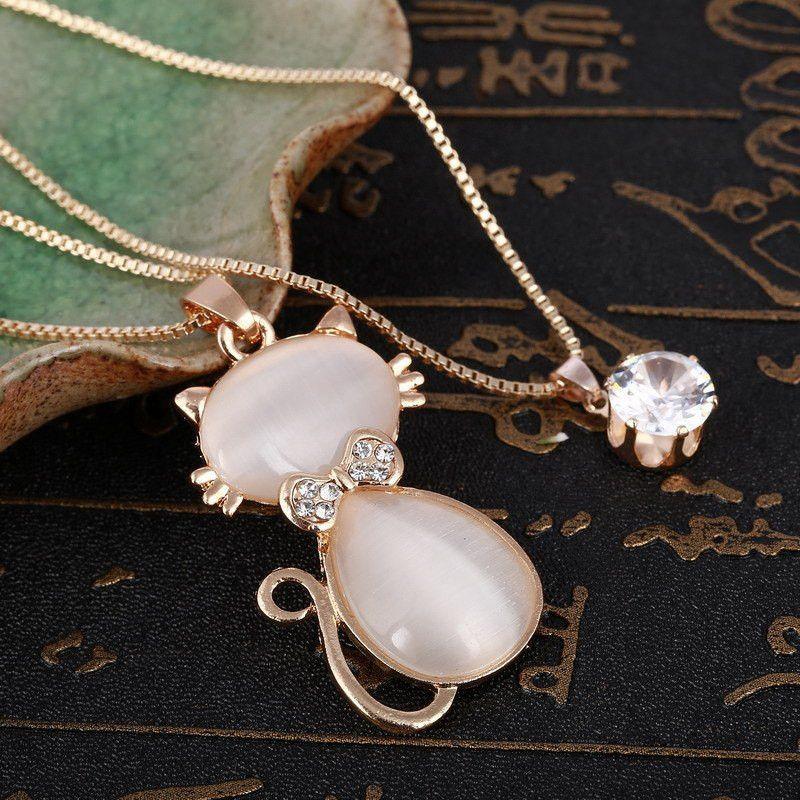 Meow Pendant Chain pendants, Cat necklace
