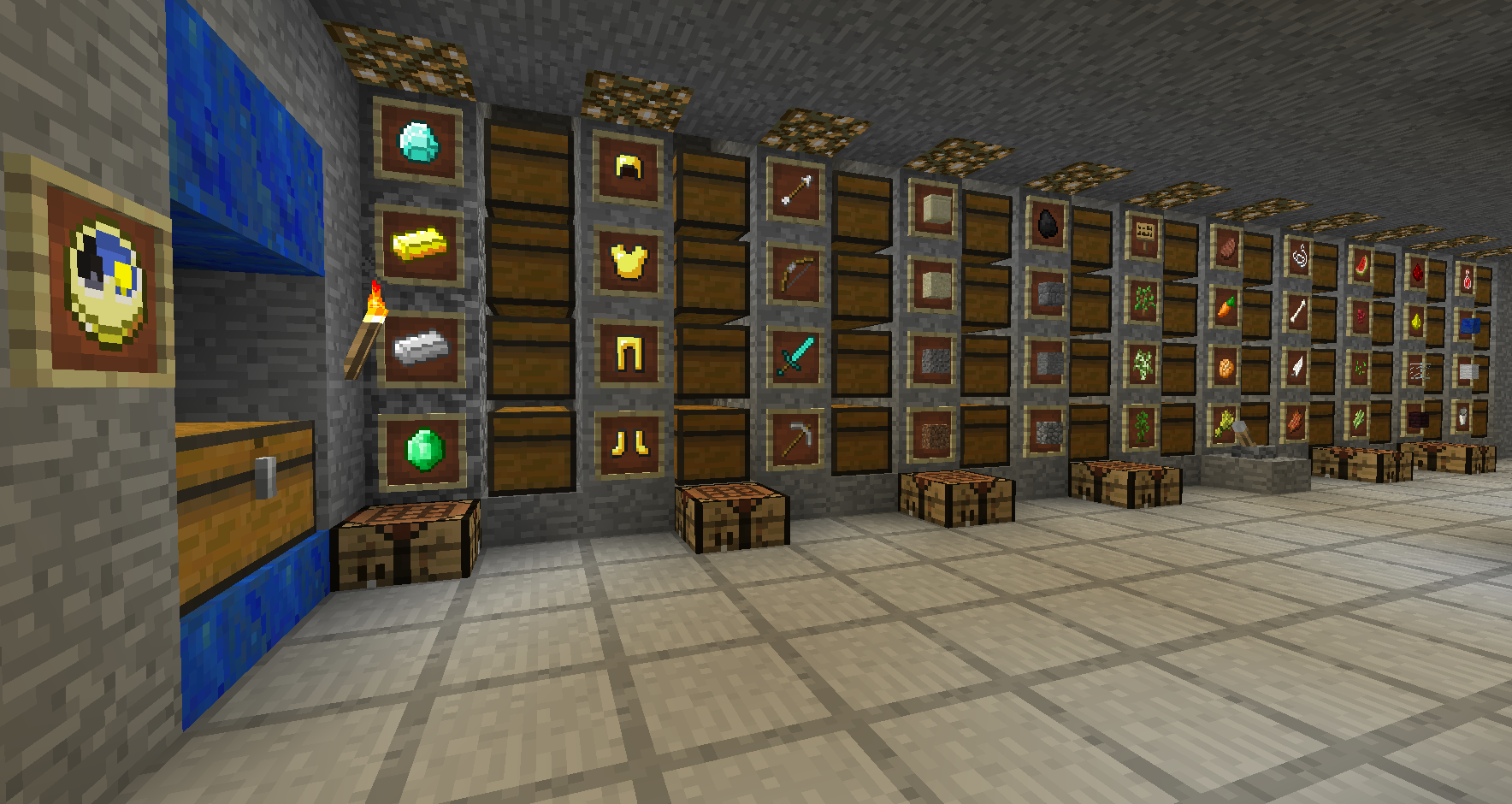 Minecraft Modern Chest Room Design