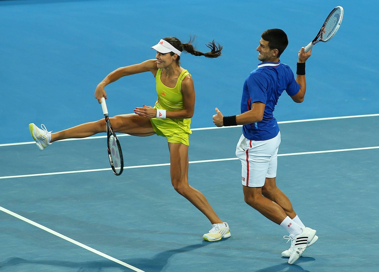 Novak Djokovic Ana Ivanovic Hopman Cup Day 3 What The Ana Ivanovic Hopman Cup Novak Djokovic