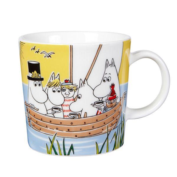 Moomin mug, Sailing with Nibling & Tooticky, by Arabia.