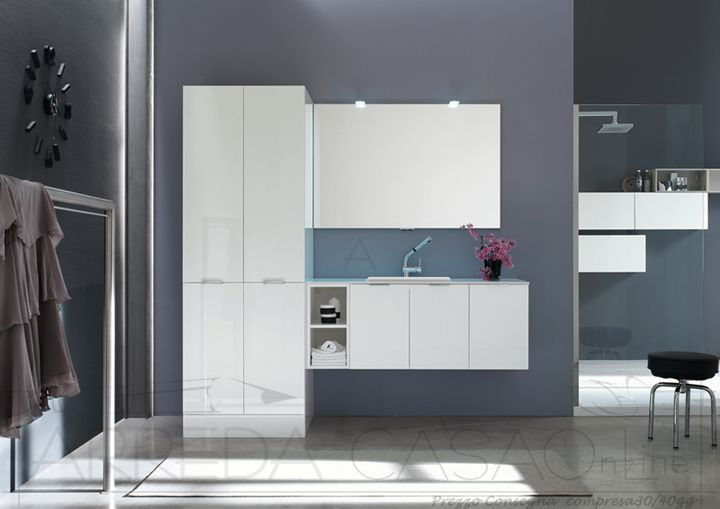 Mobile bagno portalavatrice mobile bagno lavanderia colonna