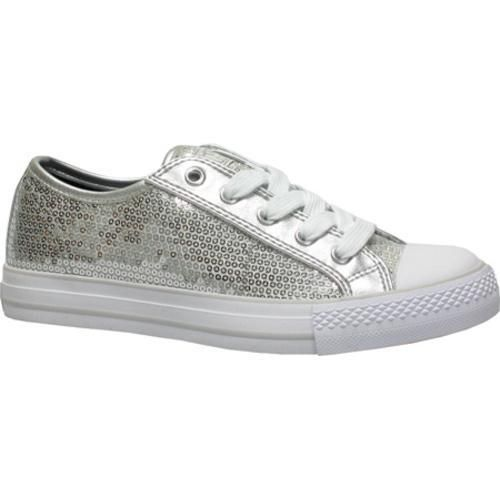fdefb7990b58 Brighten up any outfit with these chic silver sequin shoes by Gotta Flurt.  The silver sequins will make her feel like she is dancing on stage