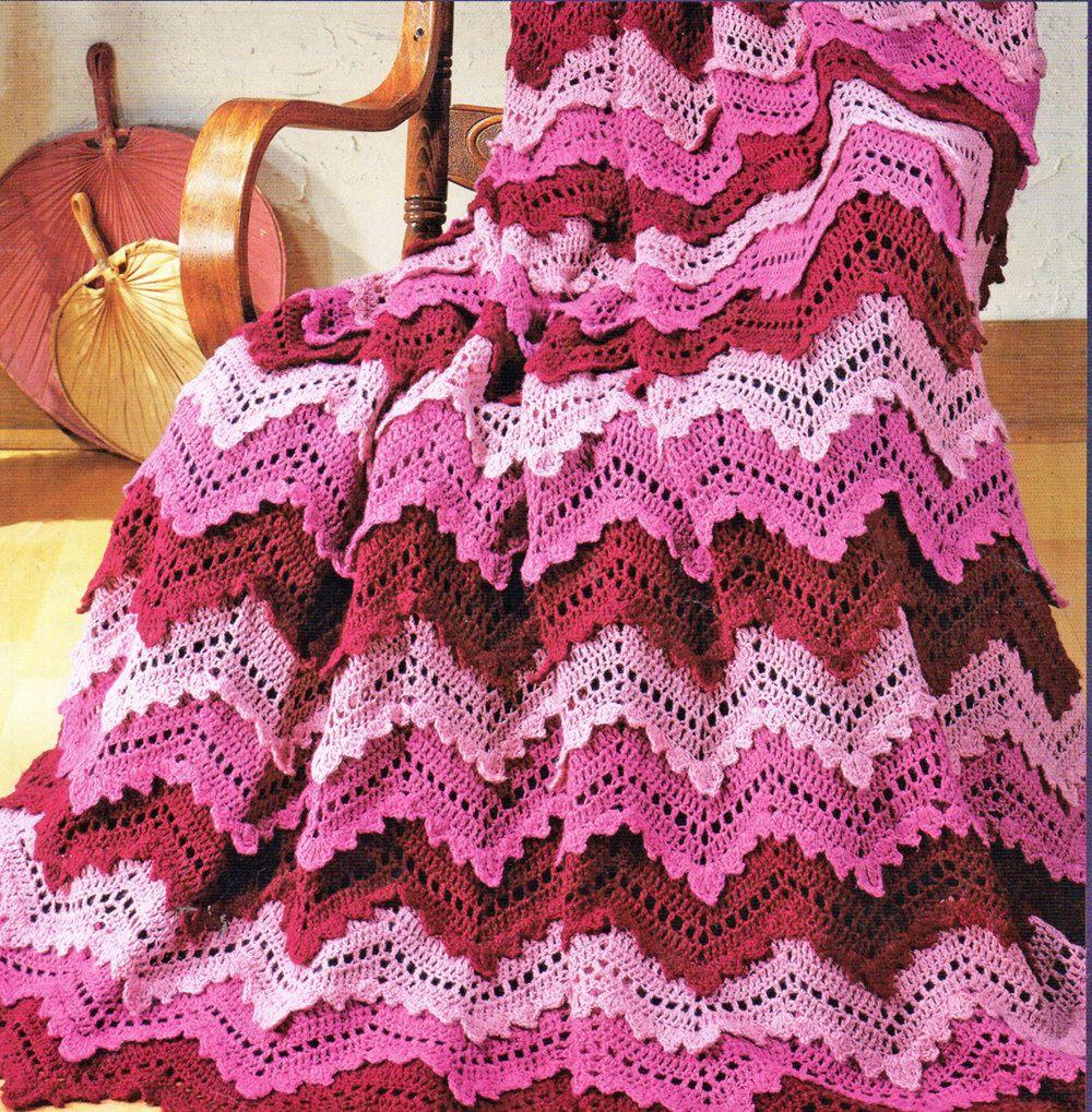 Afghan Crochet Pattern, Crochet Afghan Pattern, Ripple Afghan ...