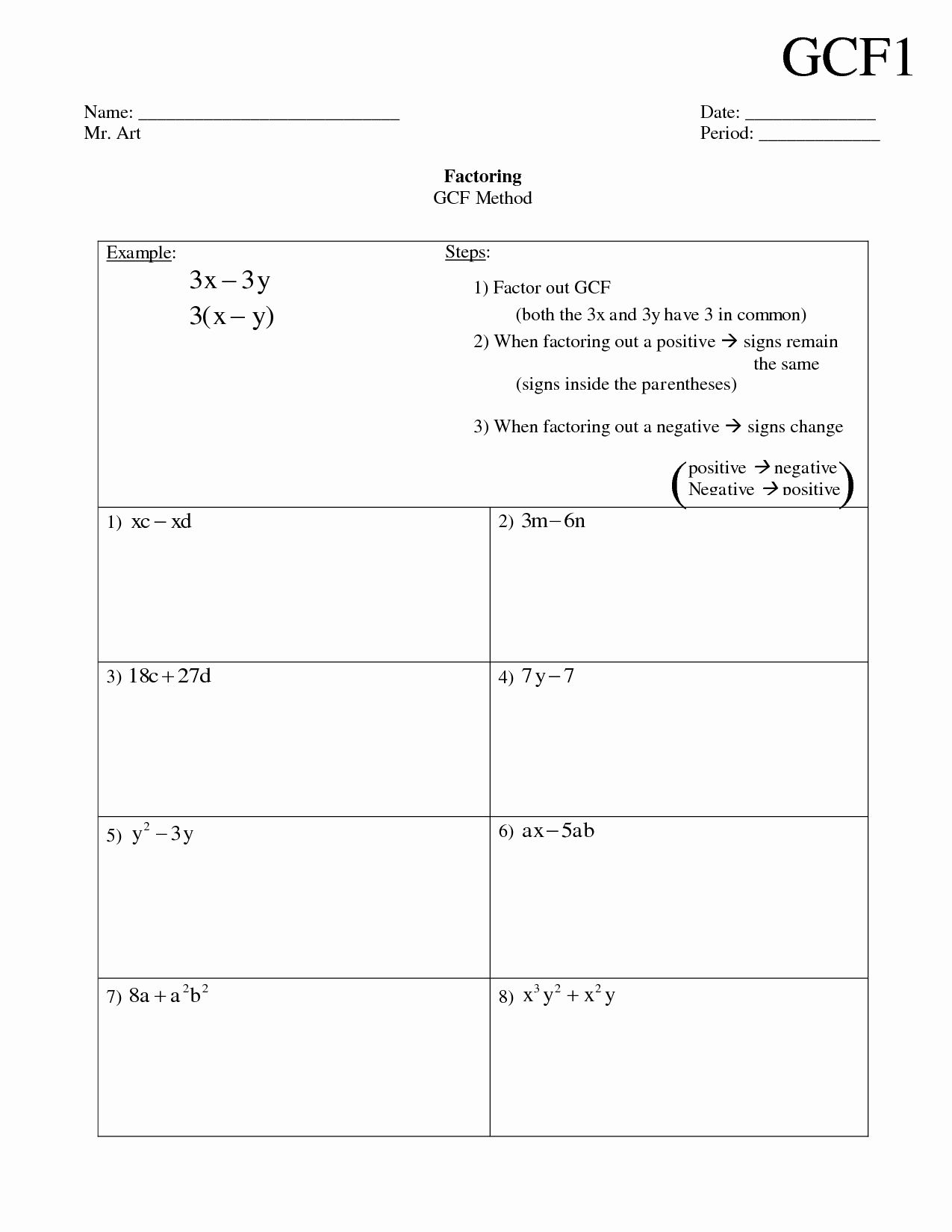 Factoring Greatest Common Factor Worksheet Luxury 17 Best