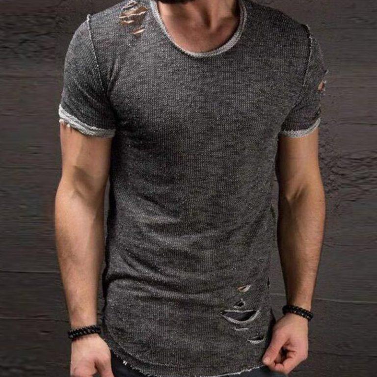 New Men/'s Fashion Slim Fit Short Shirts Short Sleeve Casual T-Shirt Jersey Tops