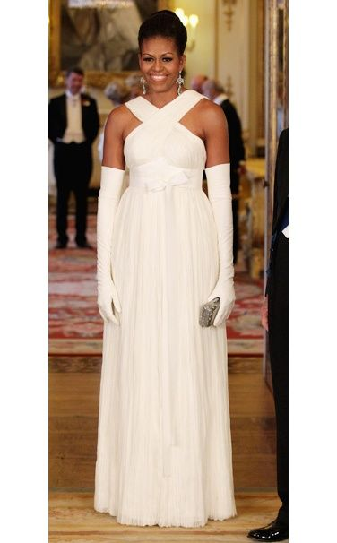 First Lady Michelle Obama In A Tom Ford Dress At The State
