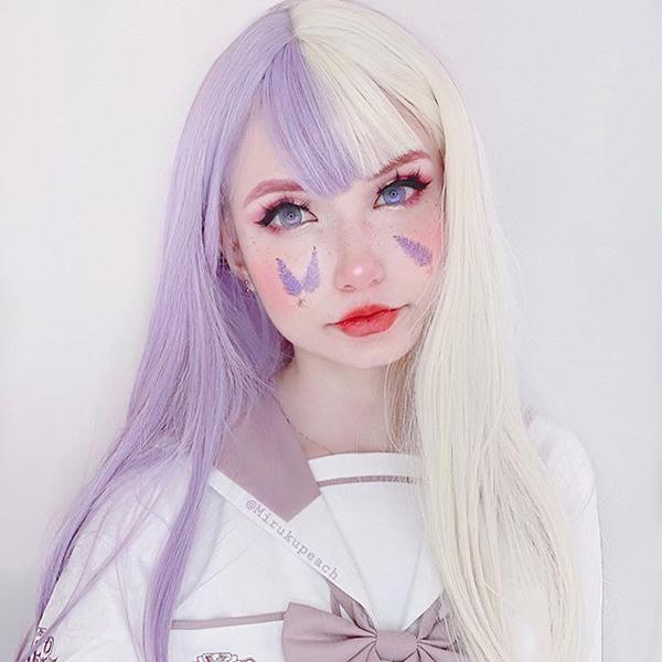 Comentario de Youvimi peluca lolita color pastel YV42511  – Maquillaje