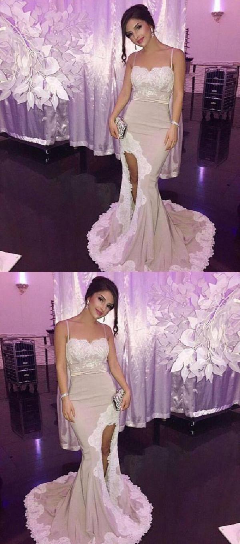 Lace white prom dress prom dress long prom dress white evening