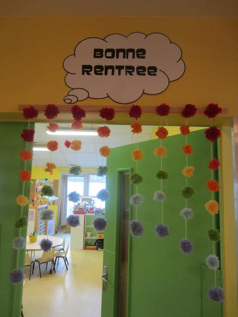 Le passage chaudoudoux chez naty ma classe la rentr e for Decoration porte maternelle