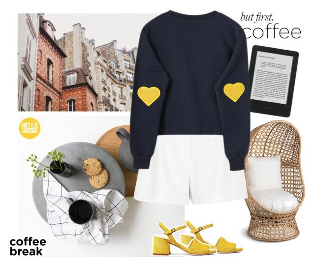"""""""Hello, Sunshine"""" by freshbycait ❤ liked on Polyvore featuring Improvements and River Island"""