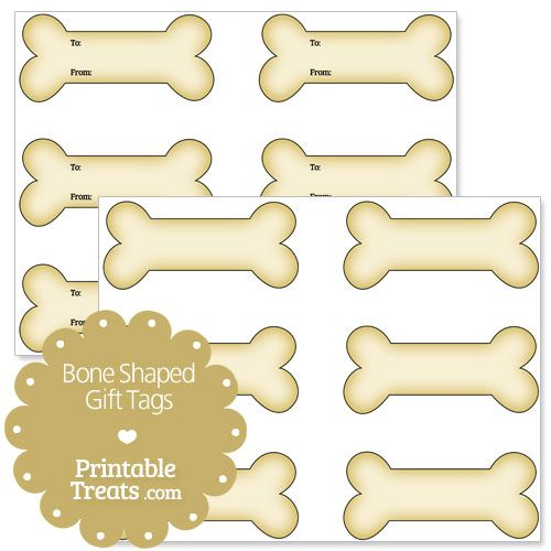 photo about Printable Treats identified as Printable Bone Formed Reward Tags - Printable Snacks Canine