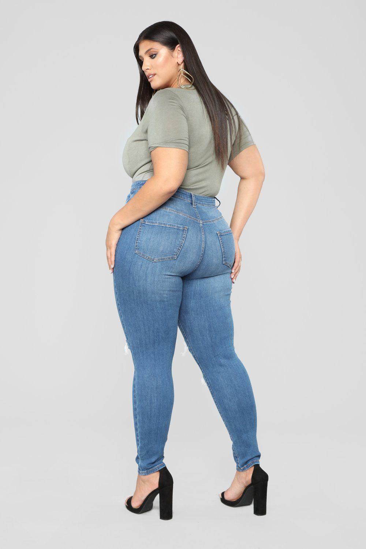 92a036357e935 Malli Skinny Jeans - Medium Blue Wash