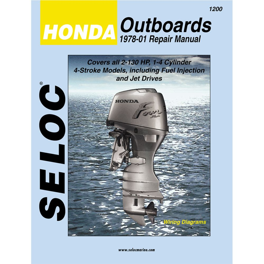 Seloc Service Manual Honda Outboards All Engines 1978-01
