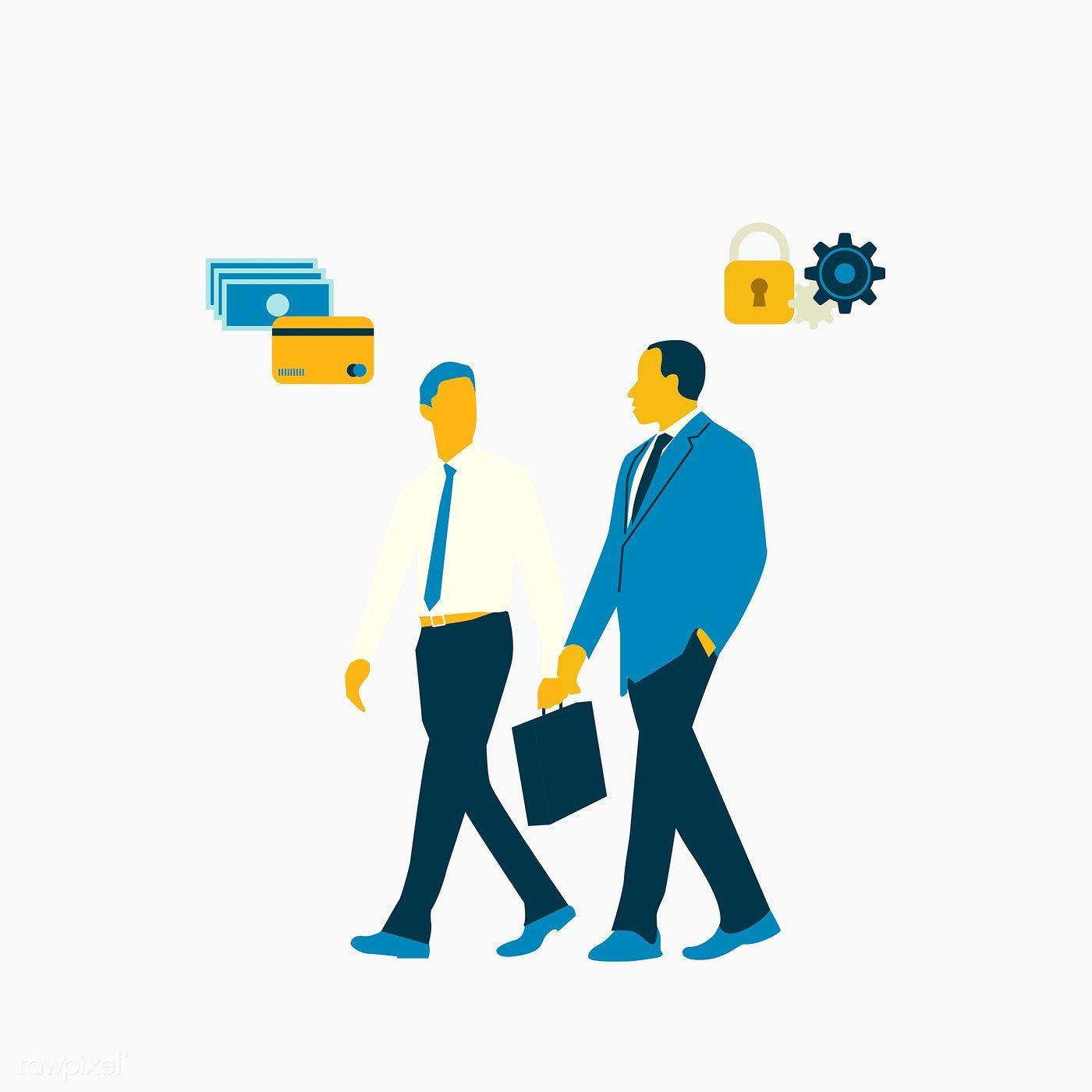 Download premium vector of illustrated business men