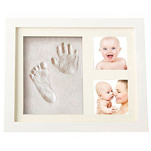 CHARMING BABY HAND & FOOTPRINT PICTURE FRAME KIT for Boys and Girls ...