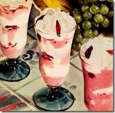 Classic fifties strawberry dessert but easier to make to day than it was back then. Most people have a modern freezer to day