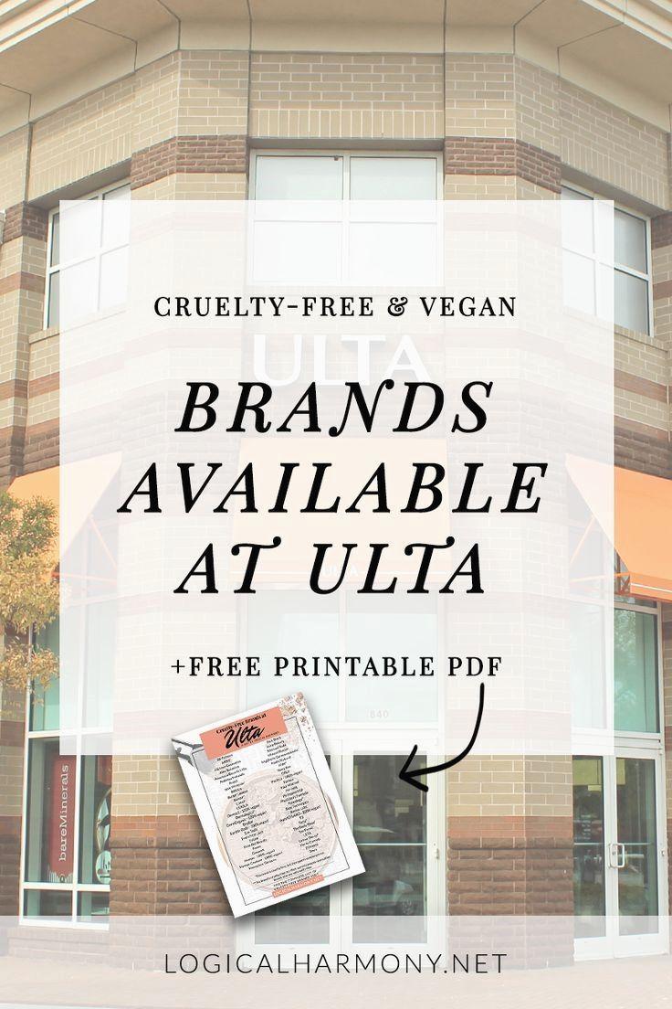 Shopping at Ulta? .. Cruelty free brands, Gluten free