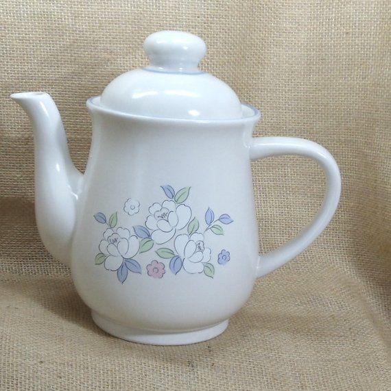 Vintage Stoneware Coffee Server, Tea Server, Chantilly Fleur de Luna,Fowers,Tea Pot,Coffee Urn, Coffee Carafe,, #VH3073 #coffeeserver