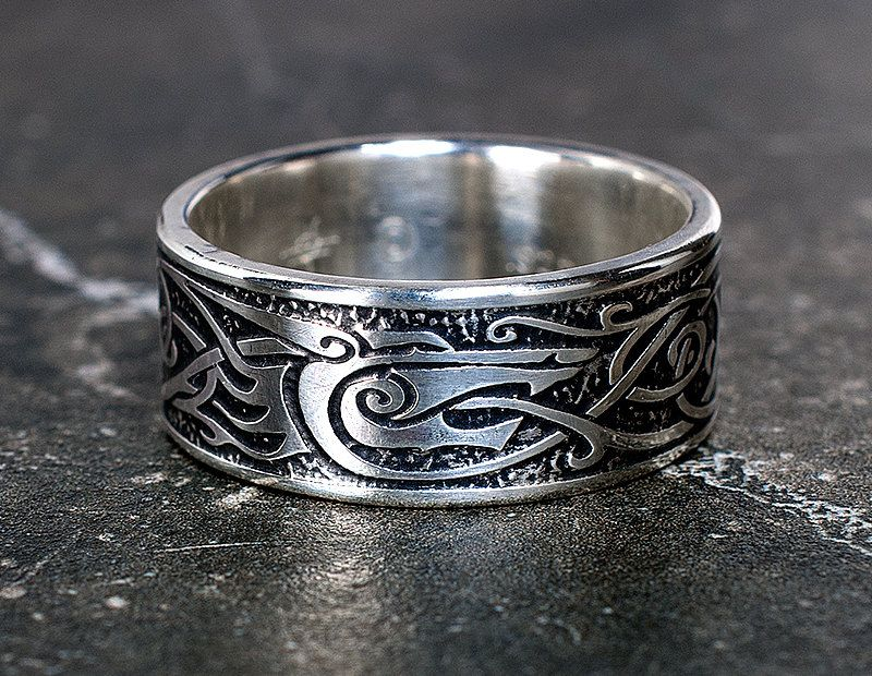 Viking Wolf Ring Sterling Silver Medieval Norse Jewelry Etsy In 2020 Rings For Men Mens Wedding Rings Unique Norse Jewelry