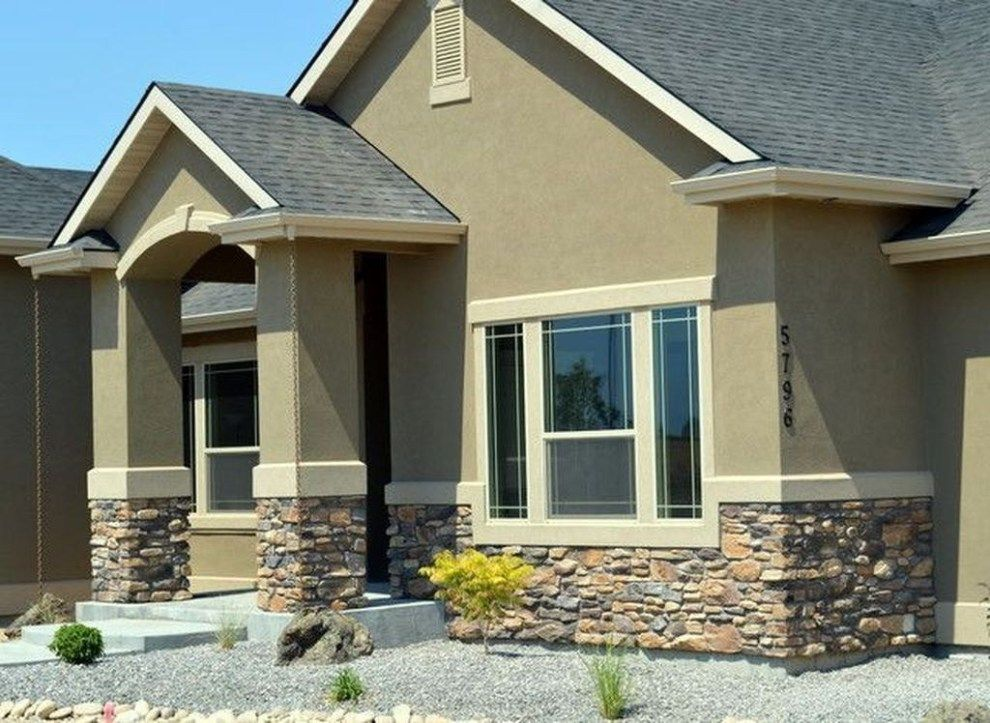Awesome Exterior Stone Ideas For Home 06 House Paint Exterior Stucco Homes Stucco House Colors