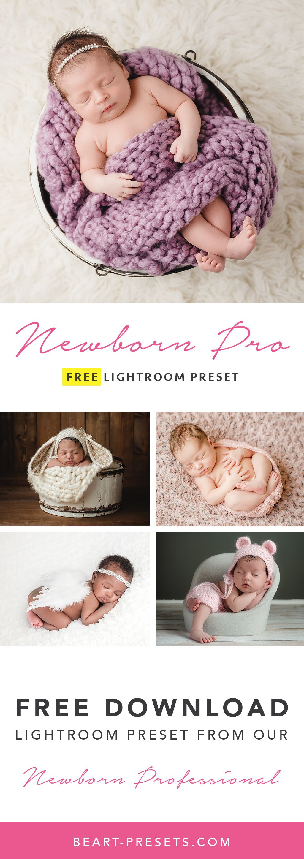 Free newborn baby photography lightroom preset for photographers from our premium collection limited time offer
