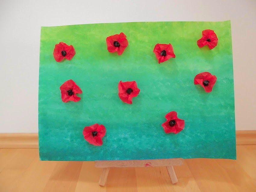 Mohnblumenwiese Fruhling Kunst Mohnblumen Kunst Kunsthandwerk Fur Kinder