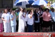 Siguen Las Manifestaciones En Torno Al 5% PIB #Video