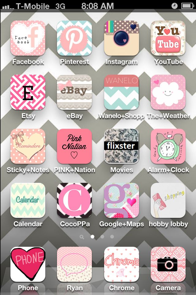 Girly iPhone apps I love my phone now ! :) how to -download the app cocoppa