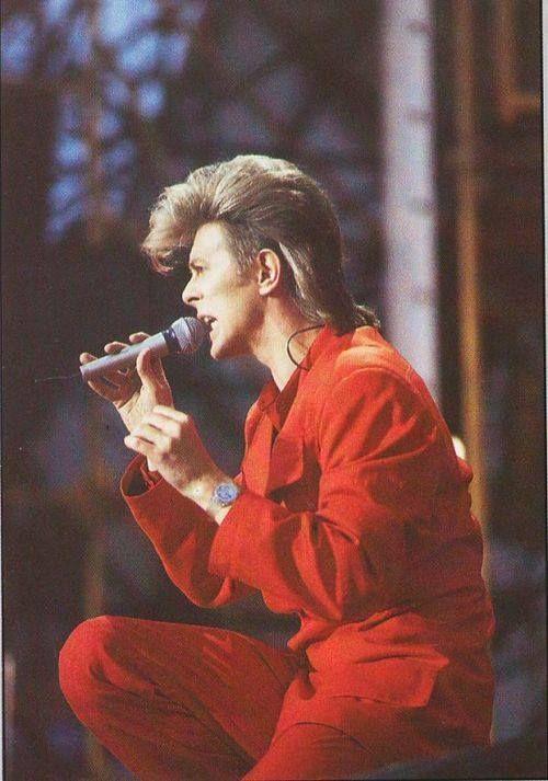 David Bowie 1987   DAVID BOWIE. Glass spider tour 1987.