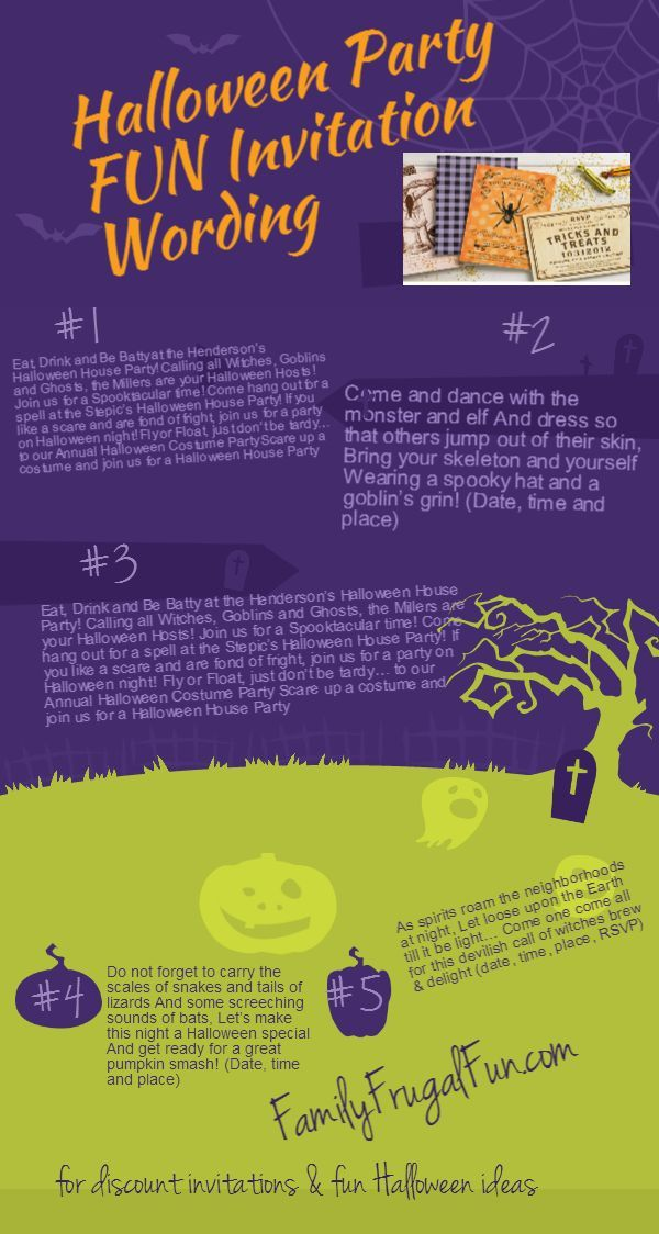 enjoy the latest Halloween invitation wordings, styles and most ...