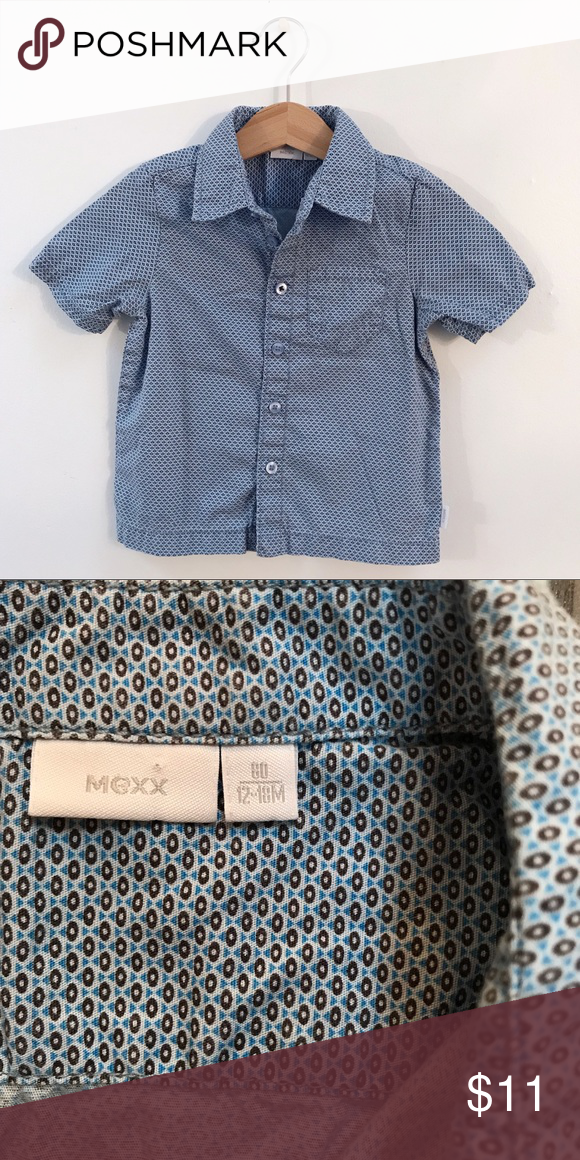 0792661c6f787d MEXX baby boy shirt Euro size 80 or 12 18 months. Cute button down ...