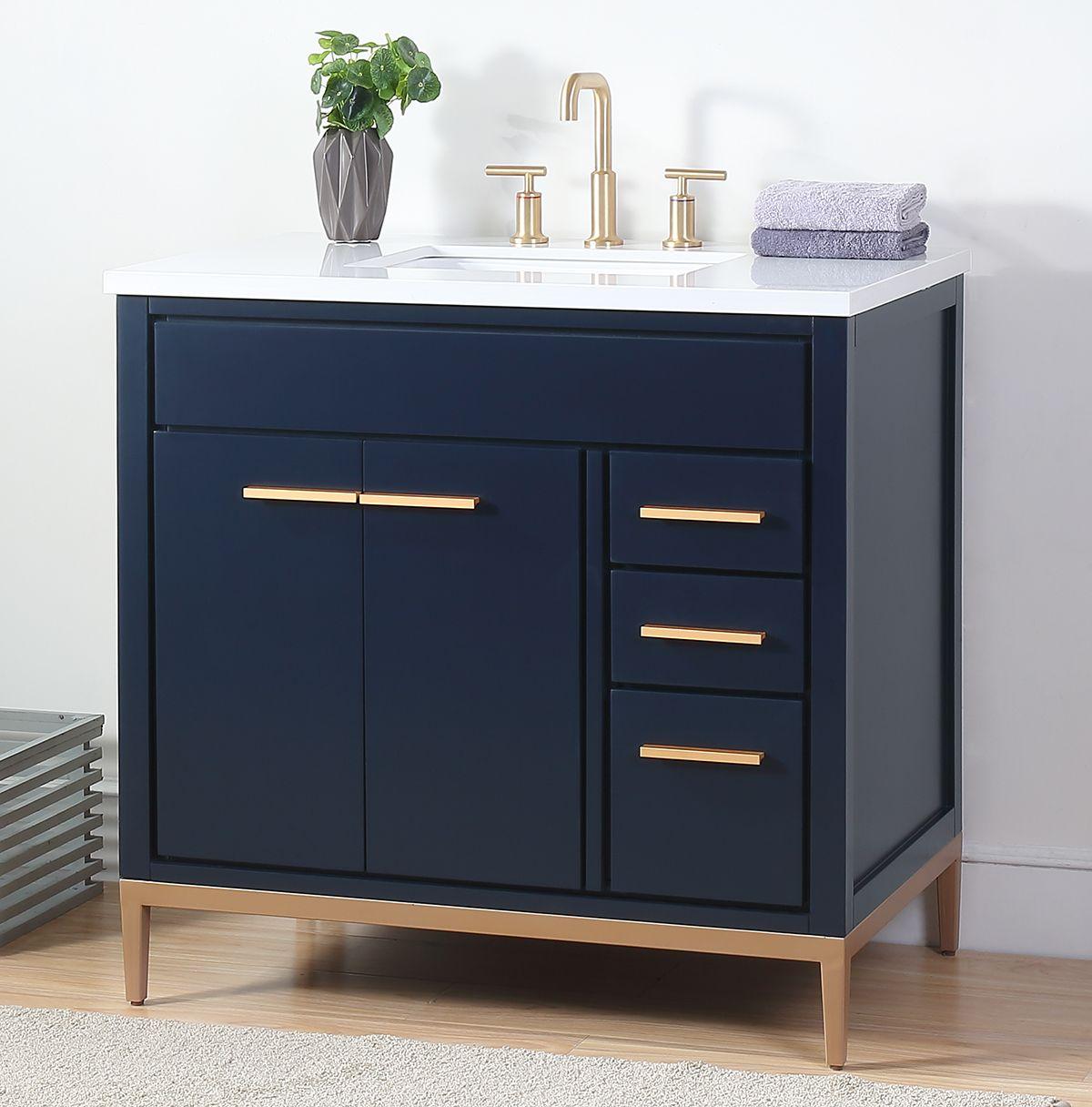 36 Tennant Brand Beatrice Navy Blue Modern Bathroom Sink Vanity Tb 9888nb V36 With Images Bathroom Sink Vanity Blue Bathroom Vanity Modern Bathroom Sink
