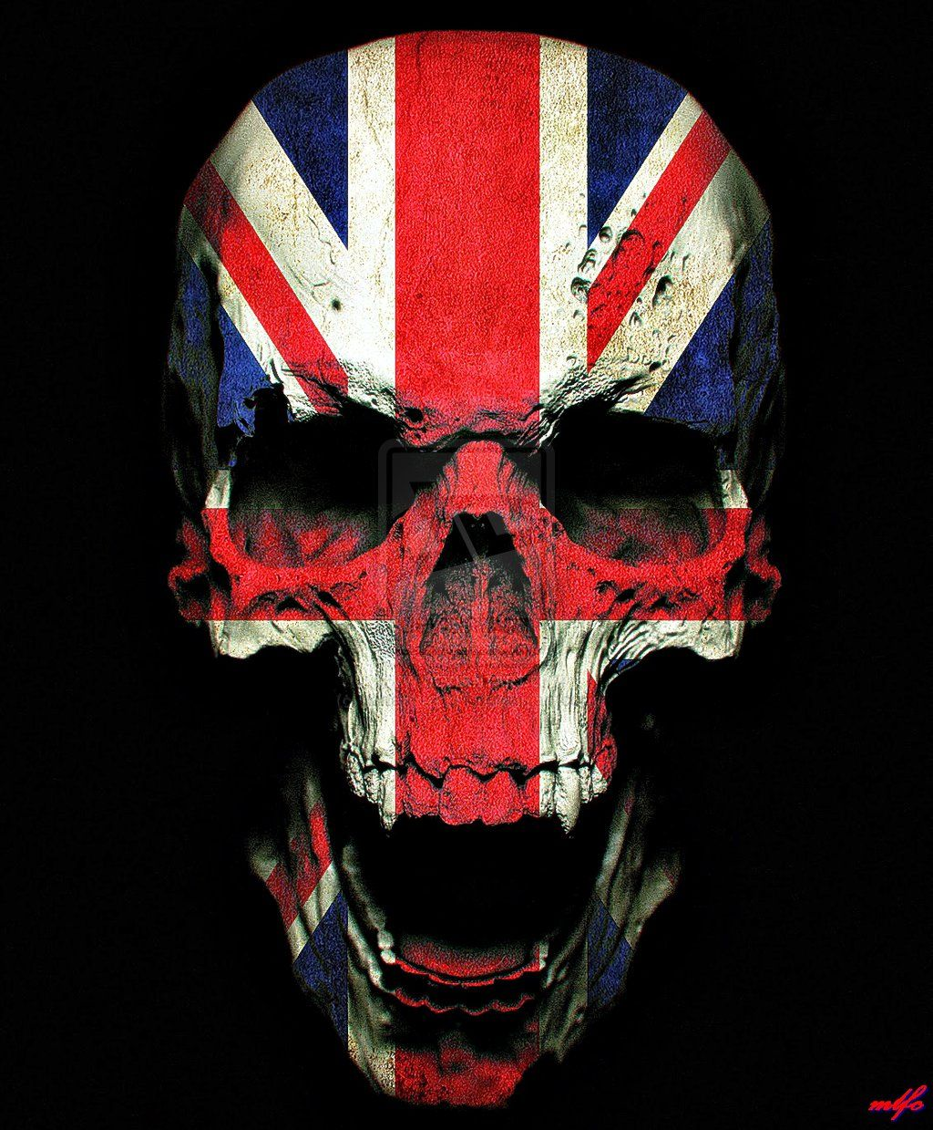 Union Jack Iphone Wallpaper The Royal Skull By Kananka1111 Skulls In 2019 Skull