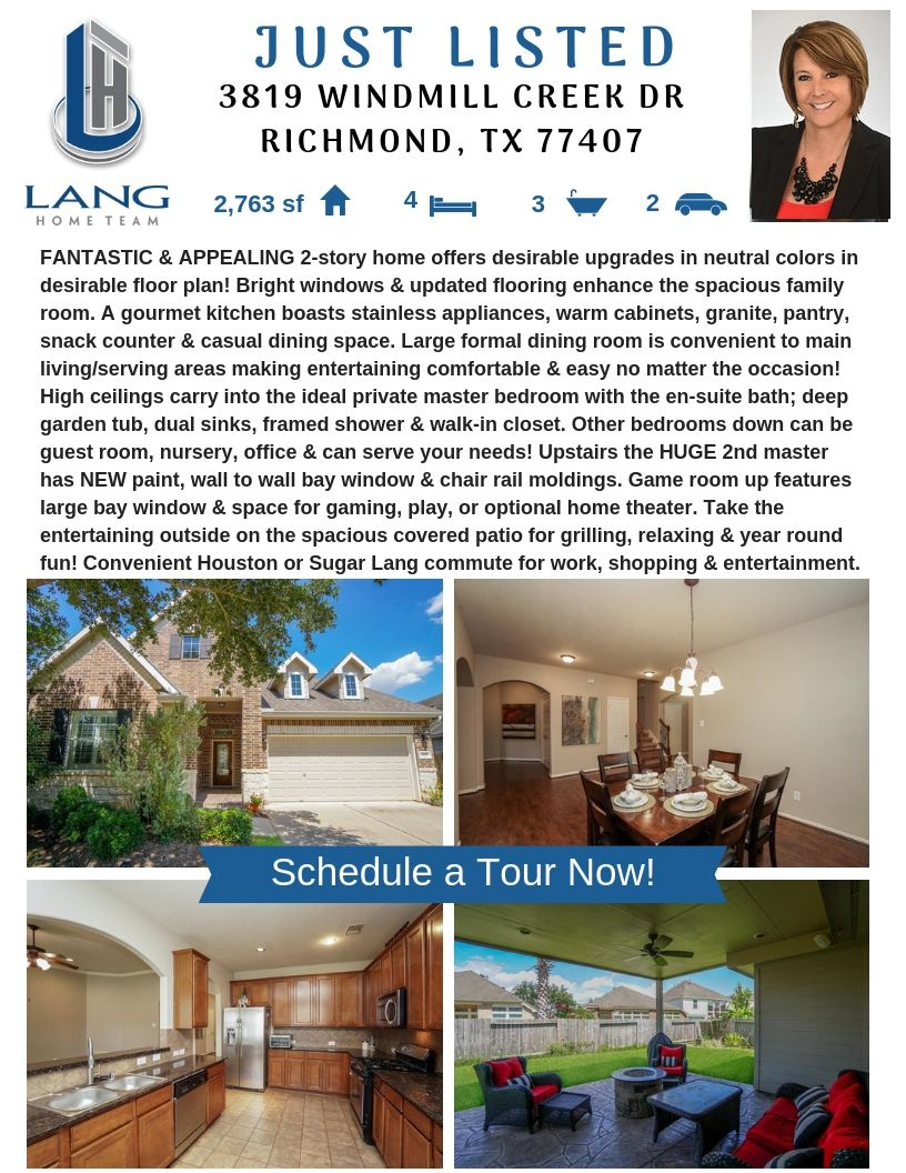 Just Listed In Richmond Houston Real Estate Home Fulshear