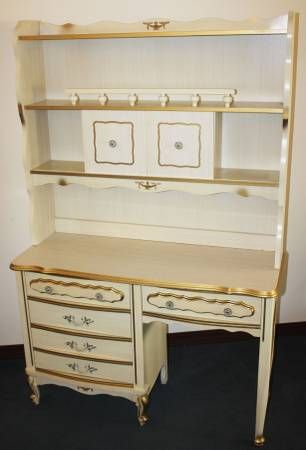 Vintage Classic French Provincial Bonnet By Sears Bedroom Set
