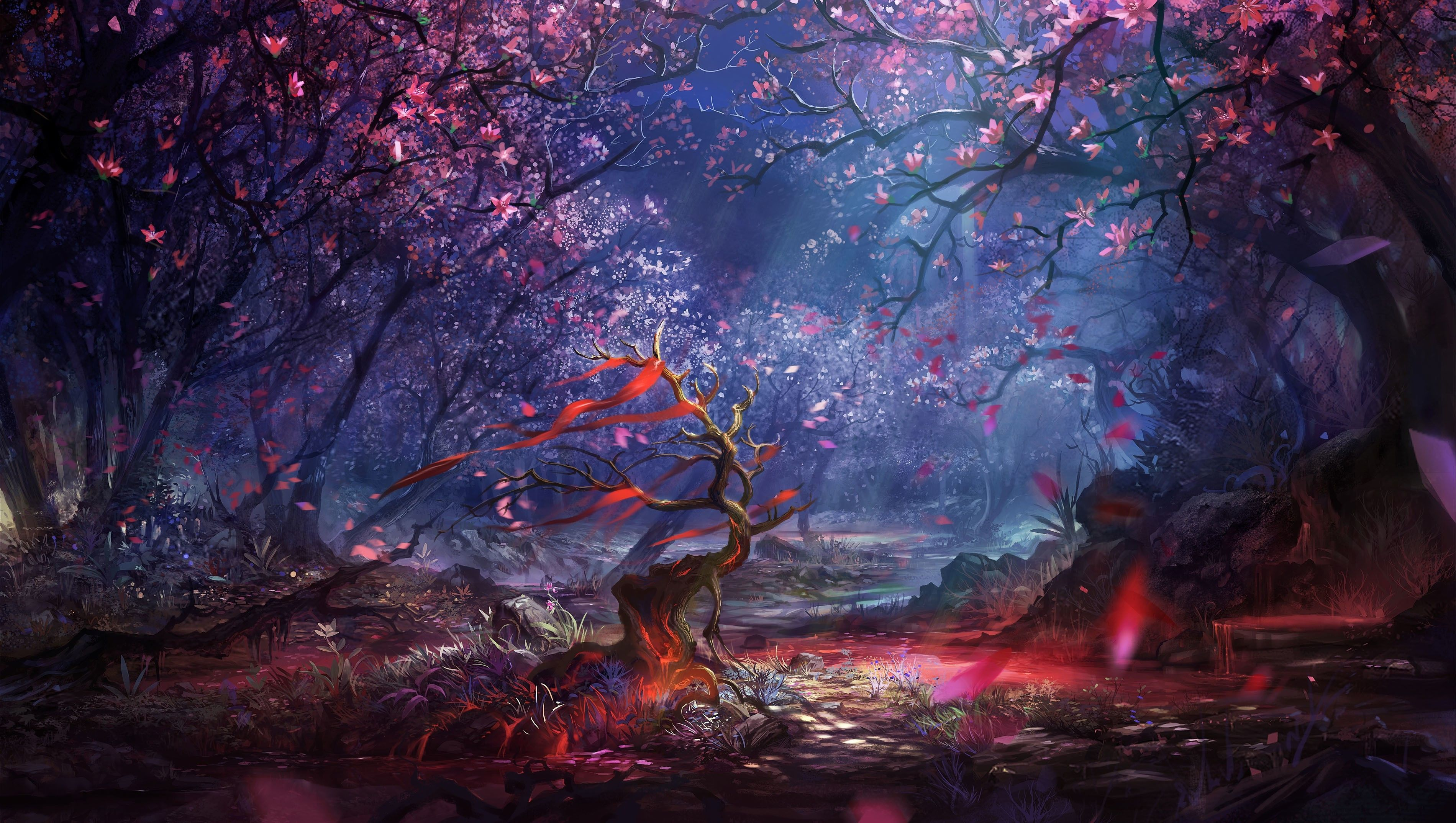 Fantasy Forest Wallpaper Picture For Background Px KB Animation Dragon Water Rider Winter