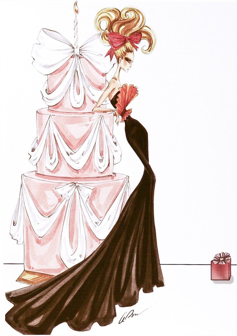 Image result for birthday cake drawing – Fashion Birthday Cards