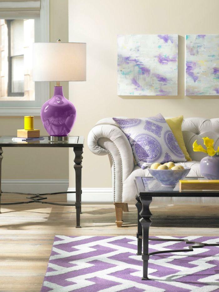 Schon Awesome Teppich Kaufen Lila Wohnideen Wohnzimmer Gelbe Akzente Check More  At Https://newhearmodels