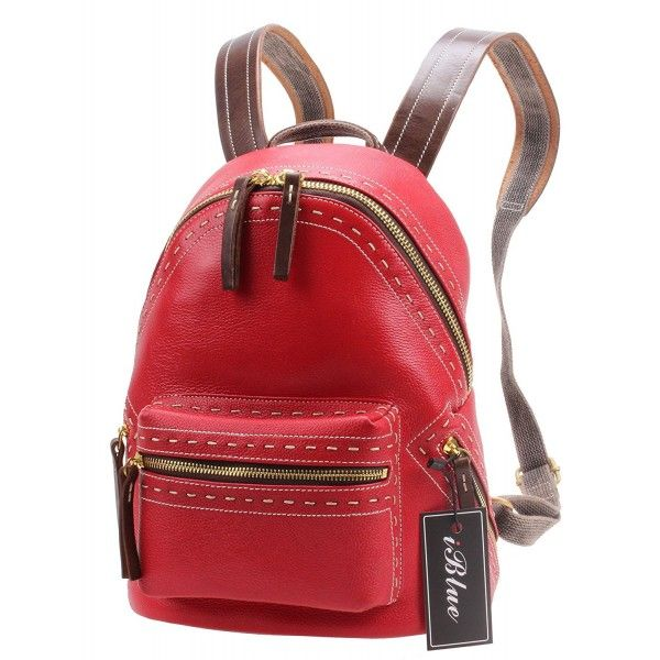 19bd0a341ad2 Women Leather Backpack Purse Casual Travel Shoulder School Bag Small ...