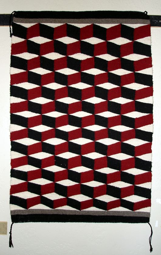 Weird Rugs optical illusion navajo rug | navajo rugs and baskets | pinterest