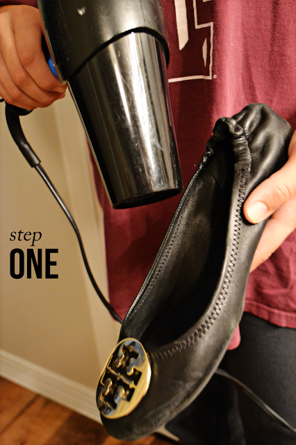 Mimosas in the Morning: DIY: The Perfect Fit. Break in your Tory Burch flats !