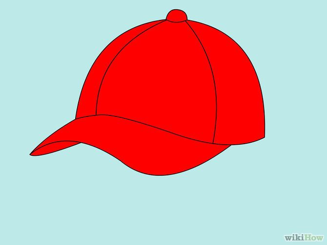 How To Draw A Baseball Cap 10 Steps With Pictures Wikihow Baseball Cap Baseball Drawings