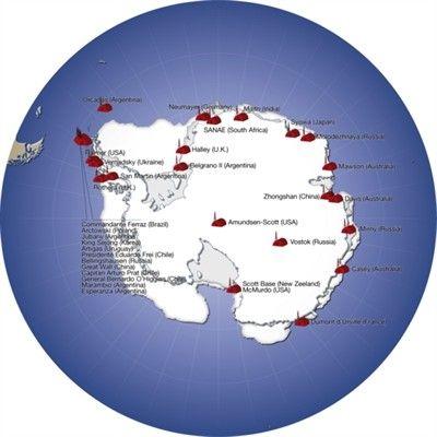 Major research stations in Antarctica Teacher Stuff Pinterest
